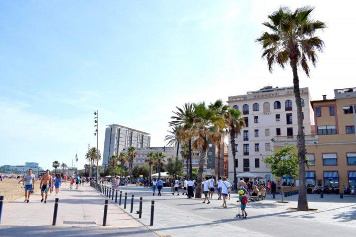 barcelonas strandpromenad