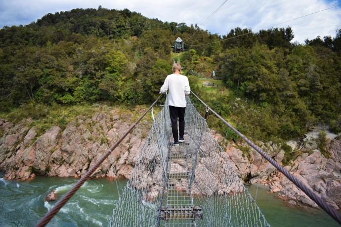 En promenad på Nya Zeelands längsta hängbro!