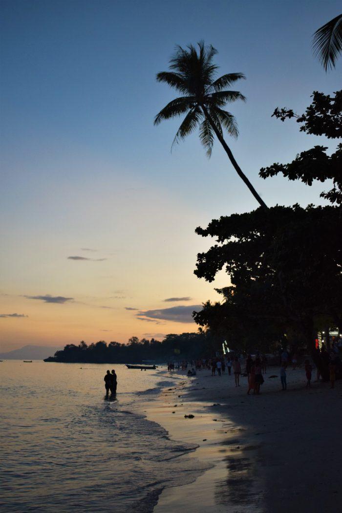 pangalos strand kvällstid