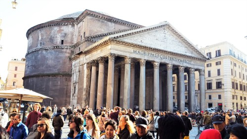utsidan av pantheon