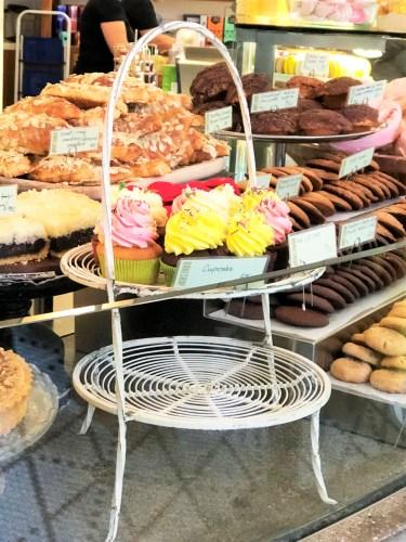 mini-cupcakes på bageri bakershop