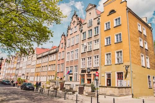 färgglada hus på piwna street