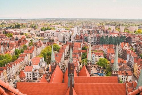 utsikt från mariakyrkan i gdansk