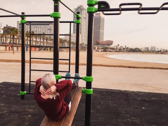utegym barcelonas strand