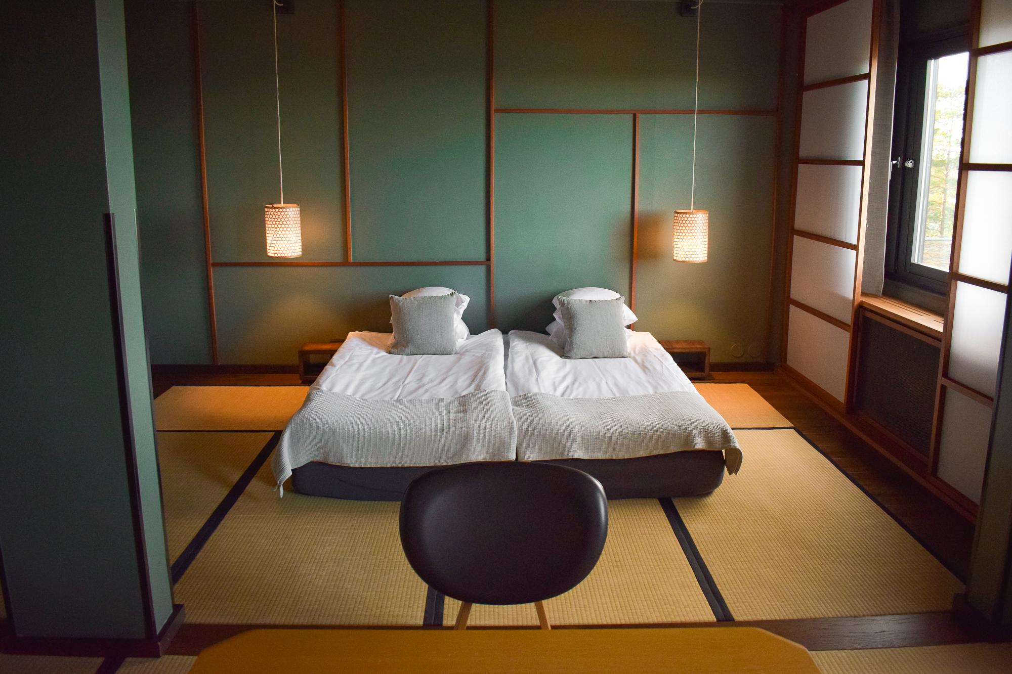 hotellrum på Yasuragi i stockholm.