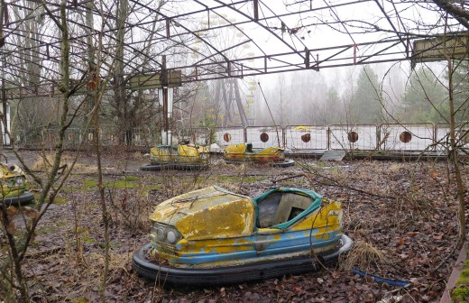 The bumper cars were scheduled to be turned on May 1, 1986, for the Soviet May Day celebrations in Pripyat, Ukraine. That was, however, about a week after the Chernobyl disaster and evacuation of the community. // Claudia Himmelreich / McClatchy