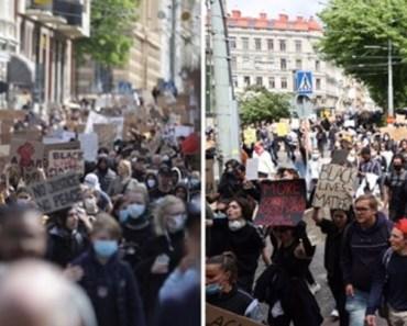 Black Lives Matter-demonstrationen spårade ur – flaskor och stenar kastades mot poliser