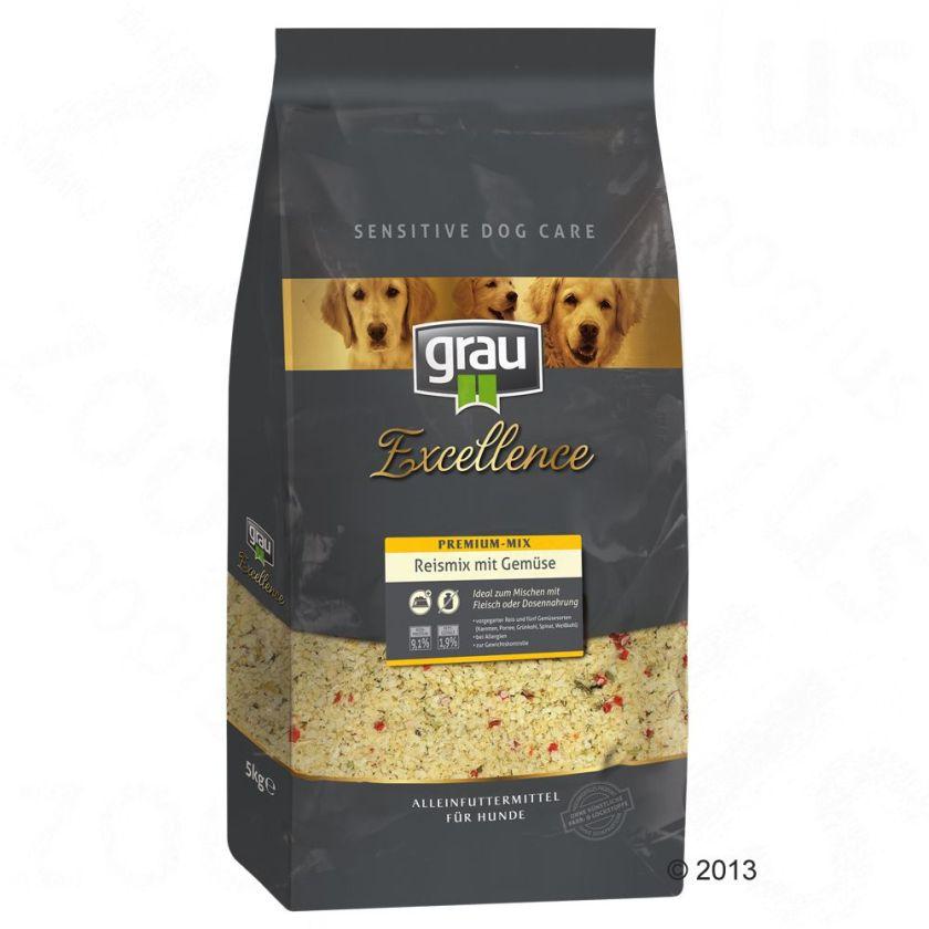 3x5kg Grau Excellence riz et de légumes - Croquettes pour chien
