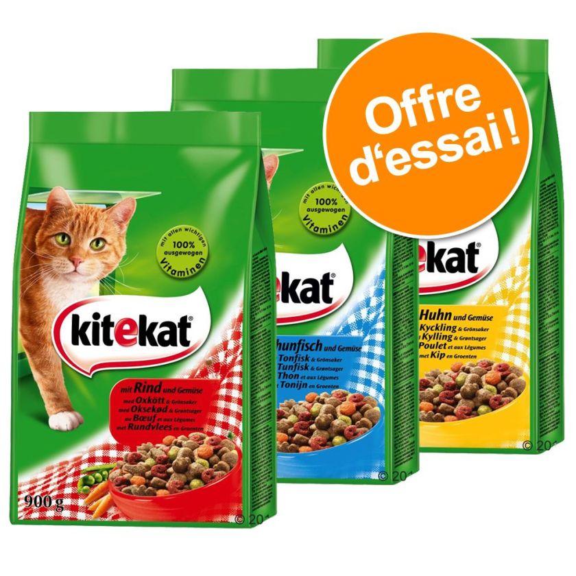 Offre découverte mixte Kitekat 3 x 900 g pour chat - 3 x 900 g (bœuf, poulet et thon)