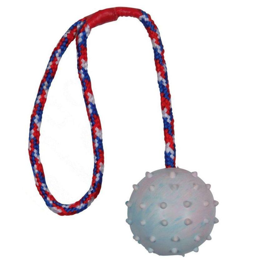 Trixie Balle en caoutchouc avec corde pour chien - 1 balle