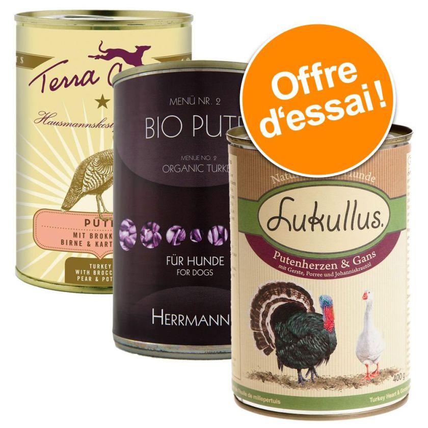 Offre Lukullus, Terra Canis + Hermanns, 6 x 400 g pour chien - lot 3