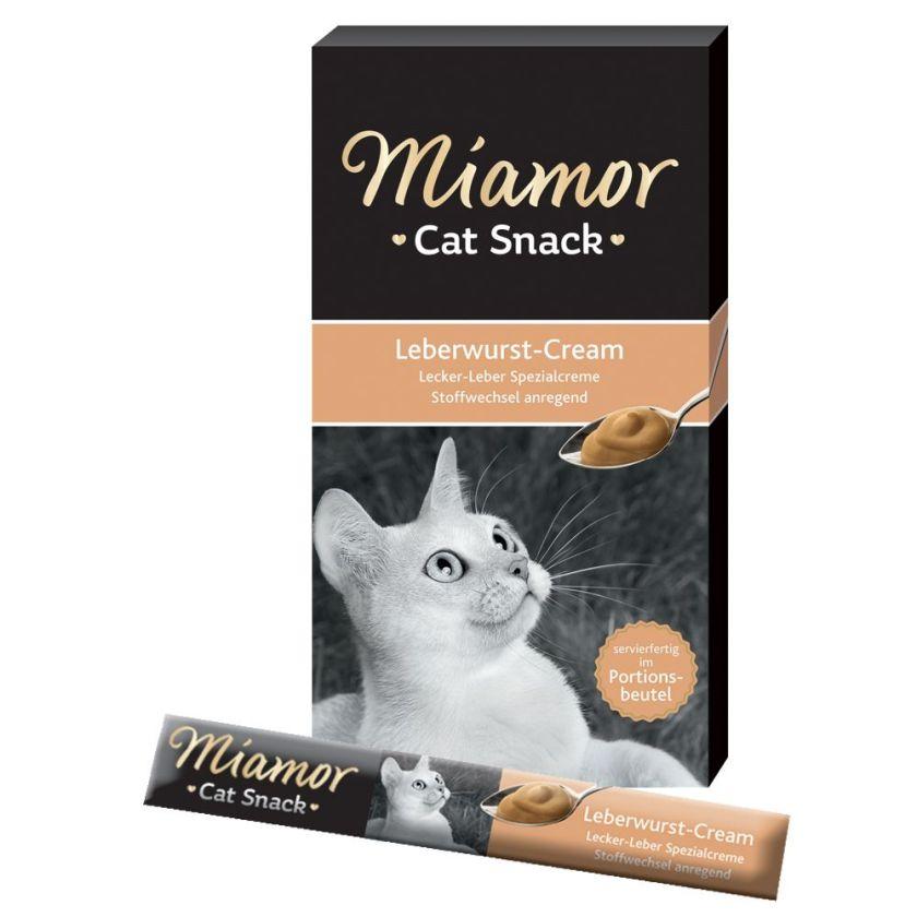 Miamor Cat Snack Crème au pâté de foie pour chat - 6 x 15 g