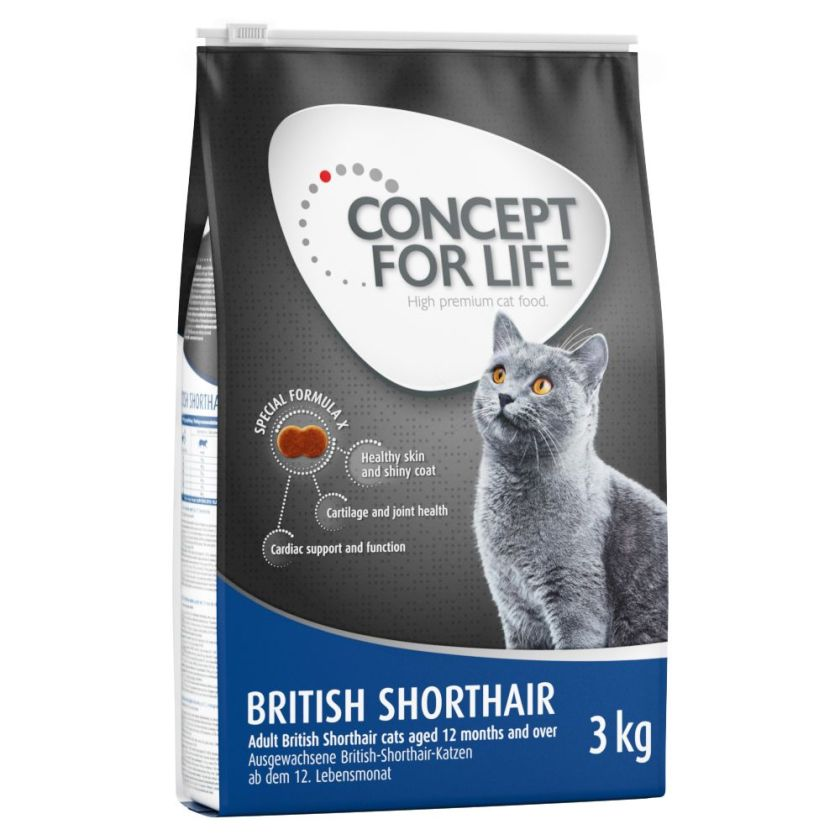 Concept for Life British Shorthair Adult pour chat - 9 kg