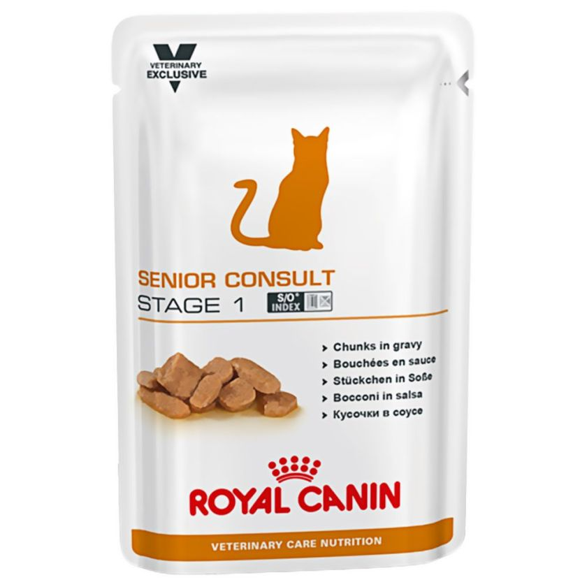 48x100g Senior Consult Stage 1 Vet Care Nutrition Royal Canin Veterinary Diet - Nourriture pour Chat