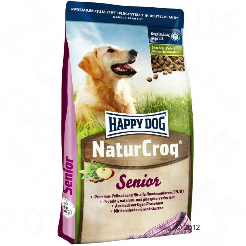 Happy Dog NaturCroq Senior pour chien âgé - 15 kg
