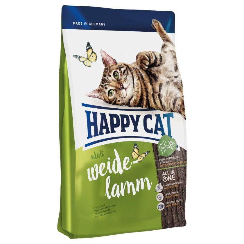 Happy Cat Adult, agneau des pâturages pour chat - 4 kg
