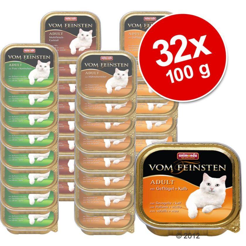 Lot mixte Animonda vom Feinsten Adult 32 x 100g pour chat - Kitten pour chaton