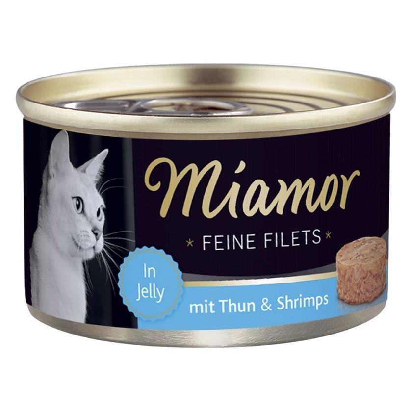 6x100g Filets Fins thon blanc, riz en gelée Miamor - Nourriture pour Chat