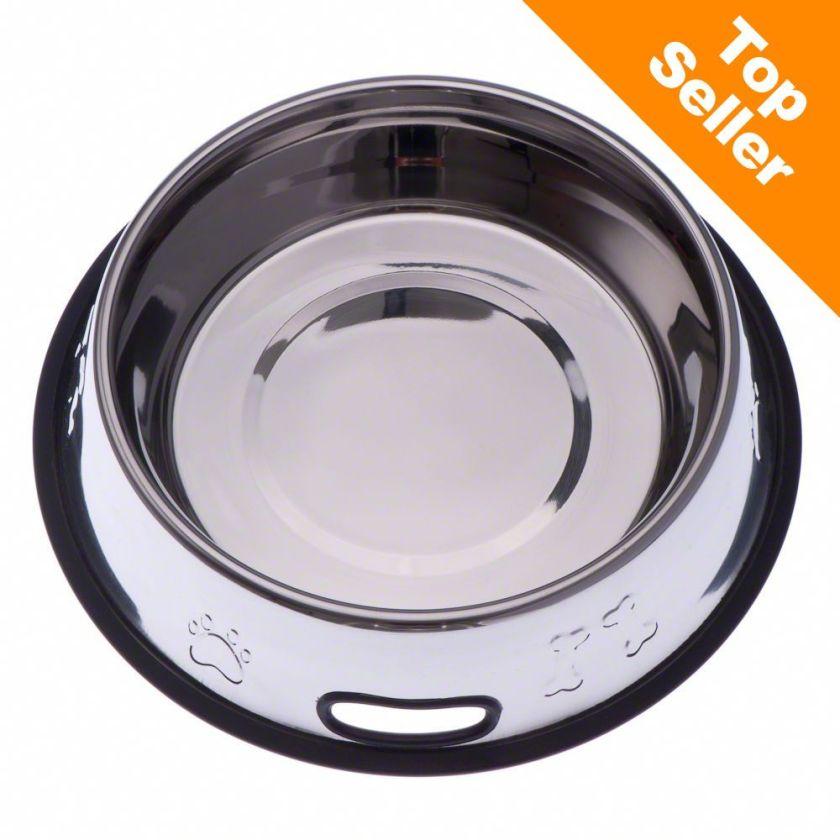 Gamelle inox pour chien 23 cm diam. 0,90L - Gamelle en inox pour Chien