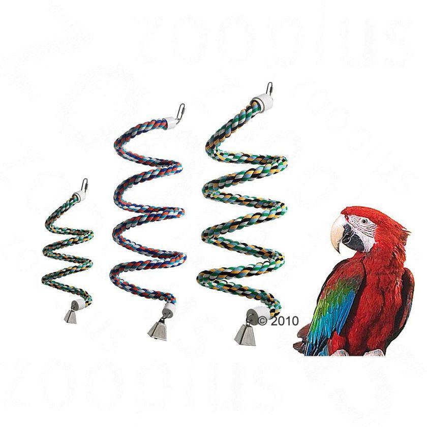 Jouet pour oiseaux spirale en corde taille L - Jouet pour oiseau