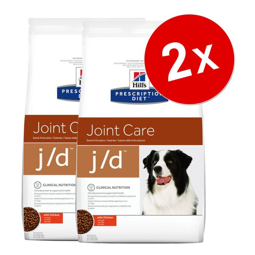2x12kg j/d Joint Care poulet Hill's Prescription Diet - Croquettes pour Chien
