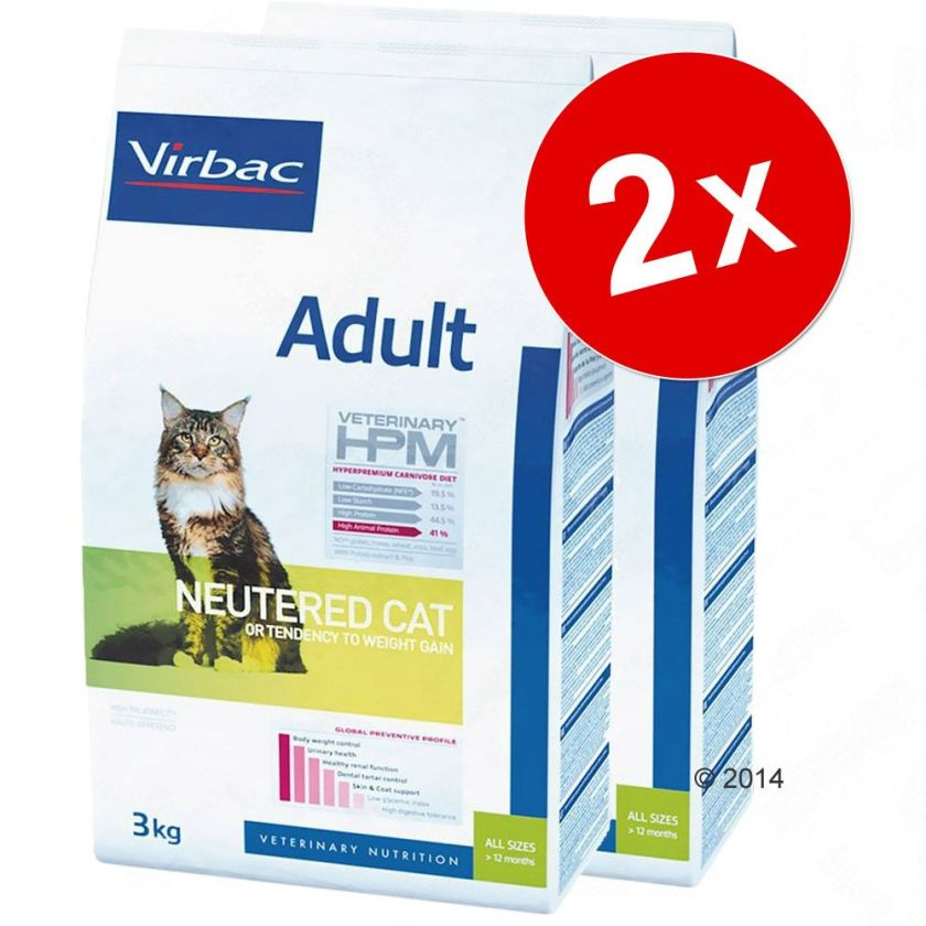 2x3kg Junior Neutered Virbac Veterinary HPM pour chat - Croquettes pour chat