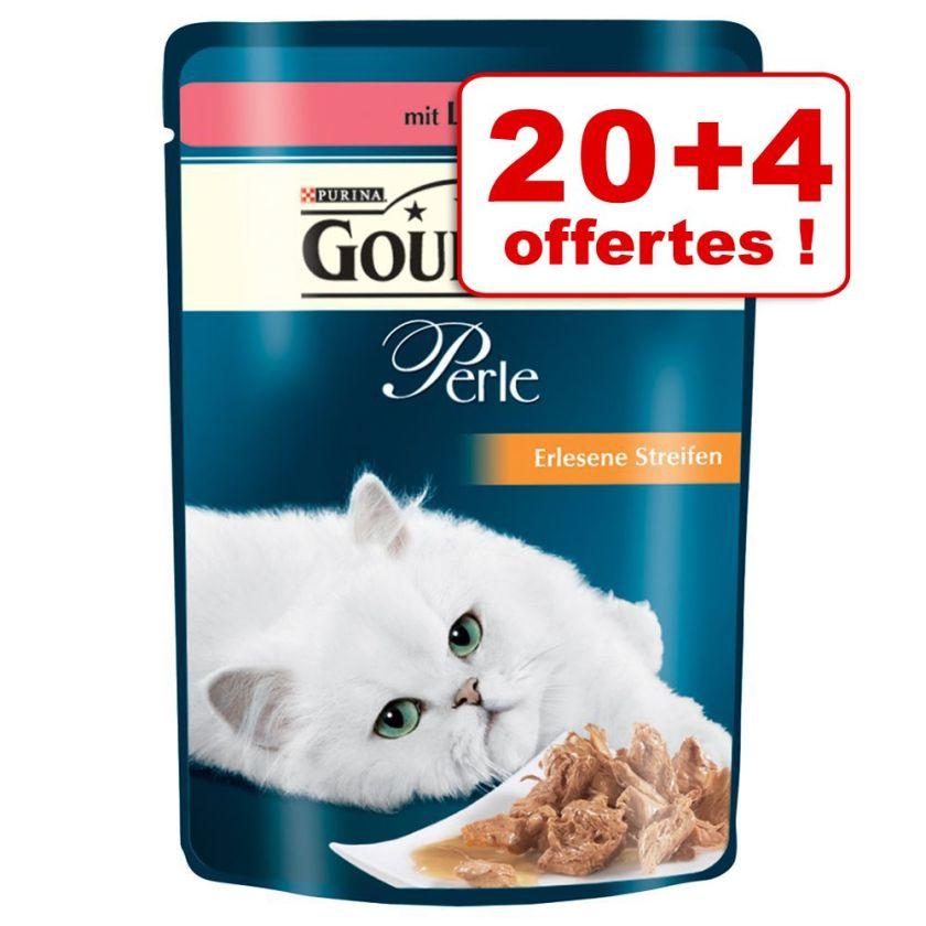 Lot Gourmet Perle 20 x 85g + 4 sachets offerts ! - lamelles de poulet