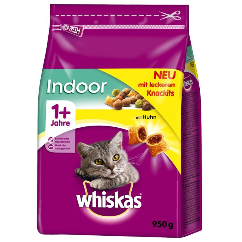 800g Indoor poulet Whiskas 1+ - Croquettes pour Chat