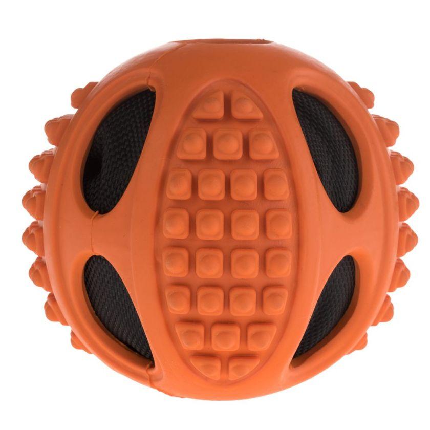 Balle en caoutchouc 2 en 1 pour chien - 2 balles de 10 cm de diamètre