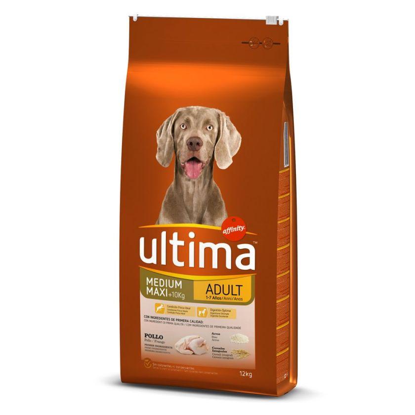 2x18kg Medium / Maxi Adult poulet, riz Ultima - Croquettes pour chien