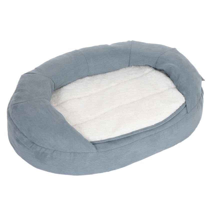 Panier ovale L72 l50 H20cm pour chien Memory gris - Panier pour Chien