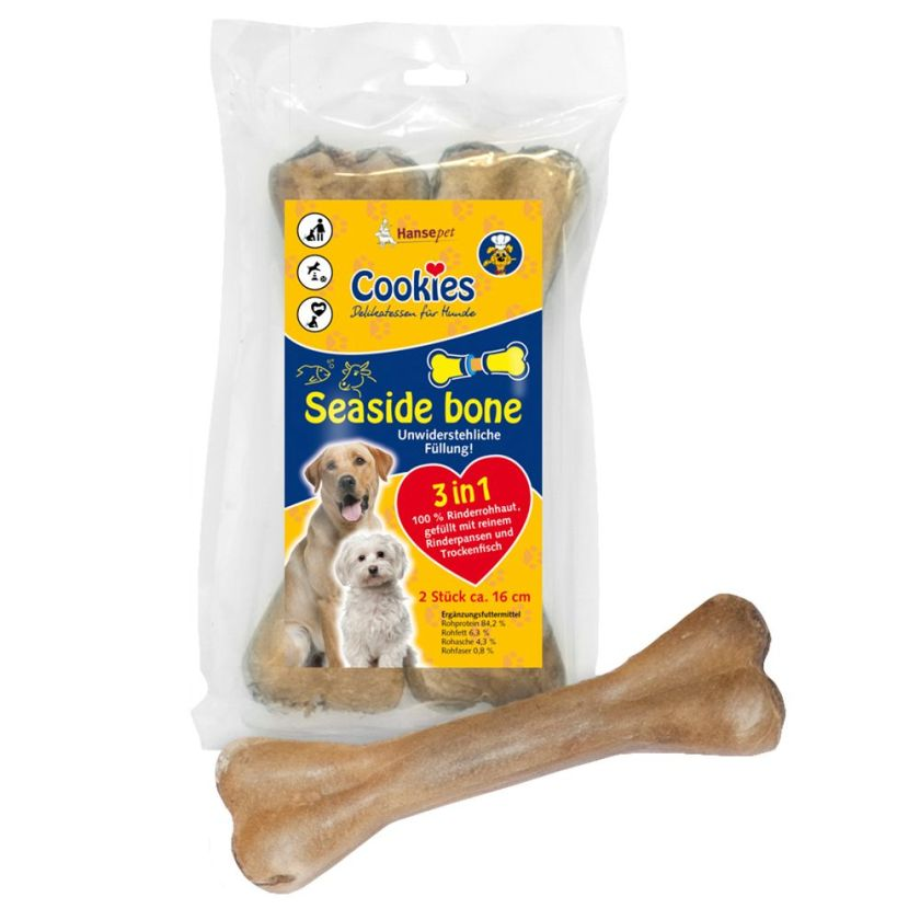 Cookie's Seaside Bone, os à mâcher pour chien - 3 x 2 os de 16 cm