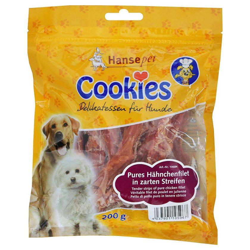 Cookie's Delikatess au poulet, friandises pour chien - 3 x 200 g, bâtonnets au filet de poulet