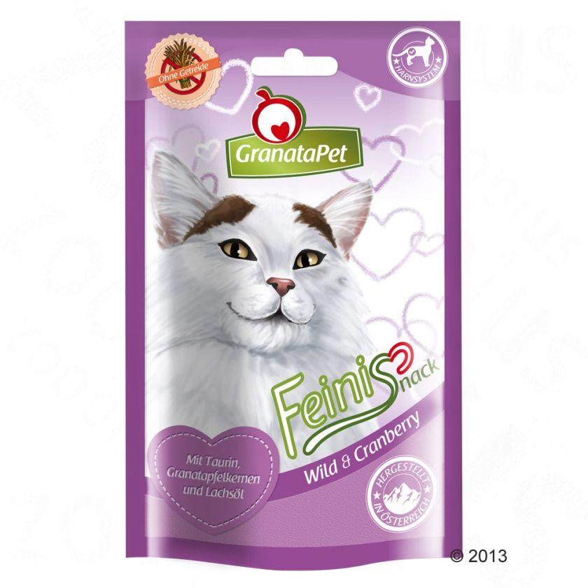 GranataPet Feinis pour chat - canard, menthe à chat (3 x 50 g)