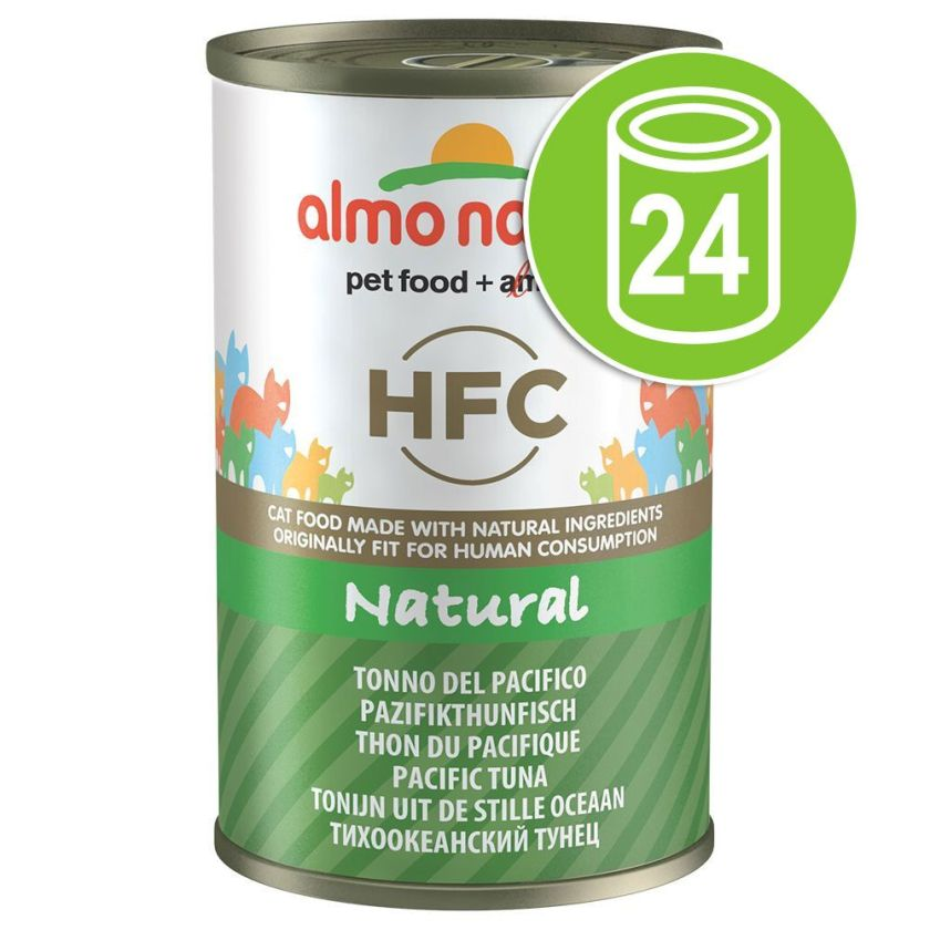 Lot Almo Nature HFC 24 x 140 g pour chat - thon de l'Atlantique
