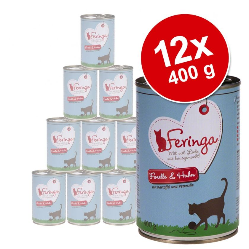 12x400g Menus Duo boeuf & volaille Feringa - Nourriture pour Chat