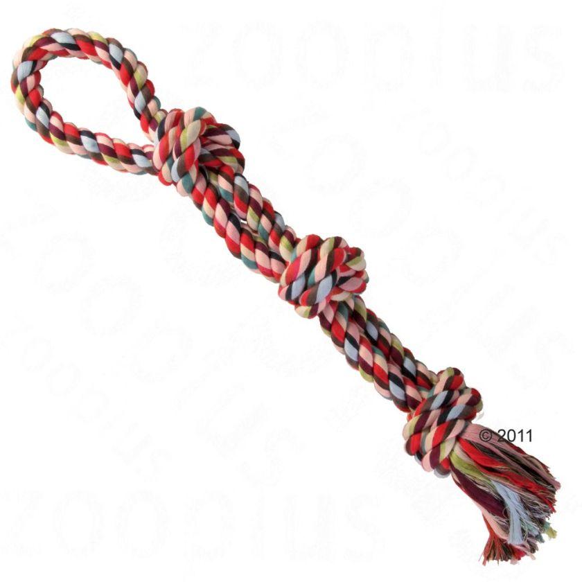 Corde double multicolore pour chien Trixie - Corde & anneau pour Chien