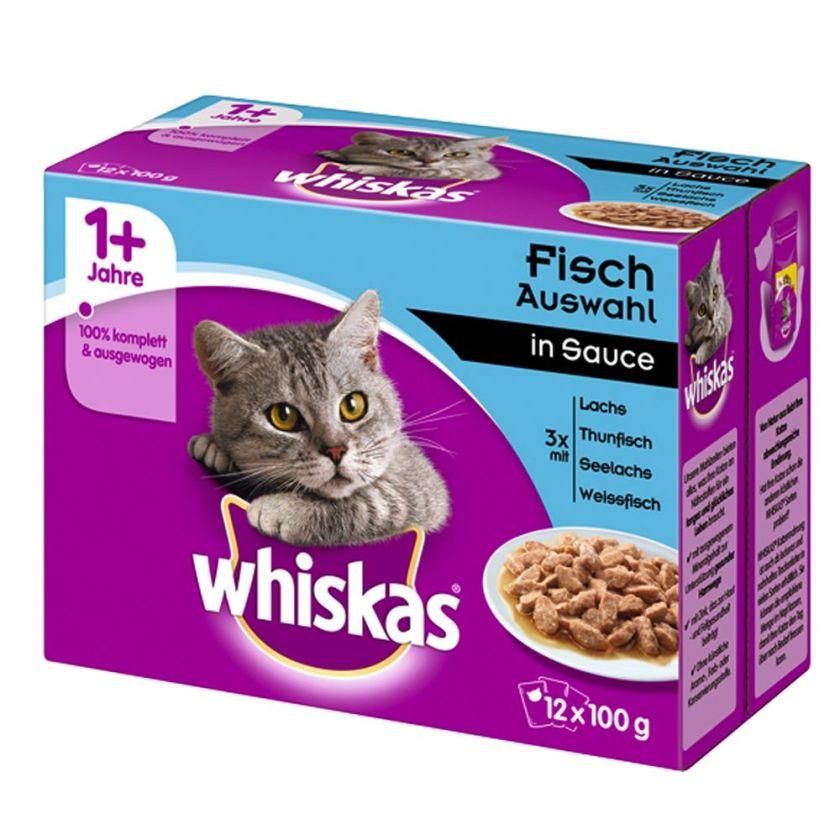 12x100g Whiskas 1+ volaille en gelée Whiskas - Nourriture pour Chat