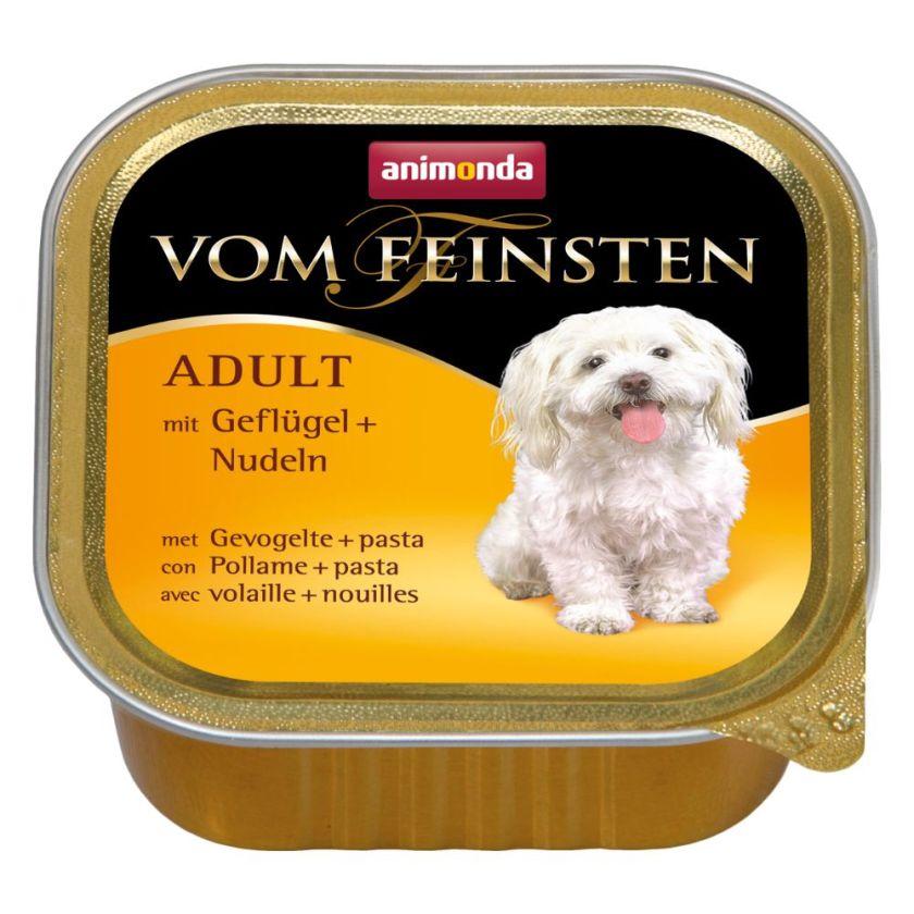 Animonda Vom Feinsten Adult 6 x 150 g pour chien - volaille, pâtes