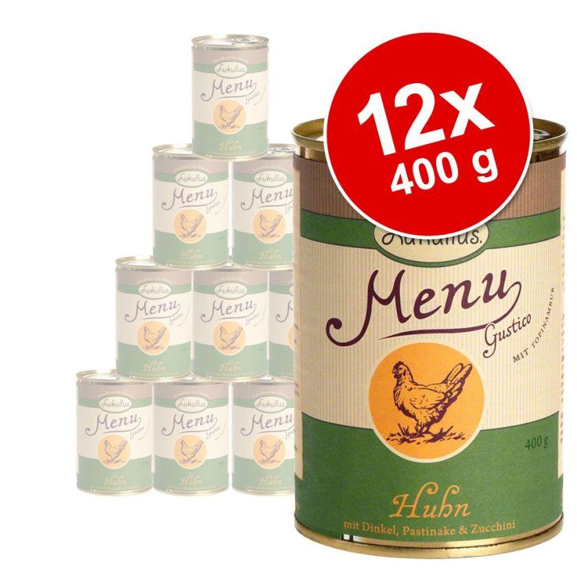 12x400g Menu Gustico sensitive à la dinde Lukullus - Nourriture pour chien