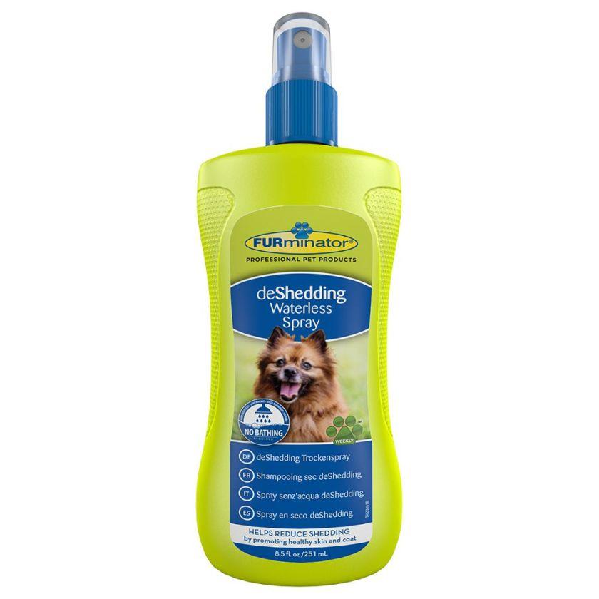 2x250mL Shampooing sec deShedding FURminator pour chien - Shampooing pour Chien