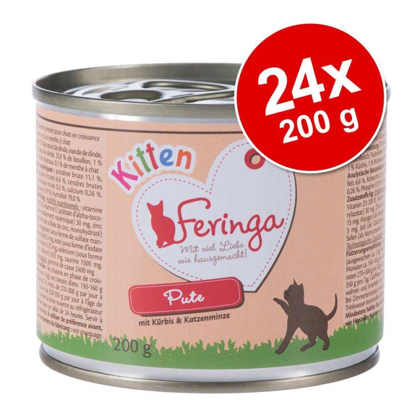 24x200g Kitten poulet, veau Feringa - Nourriture pour Chat