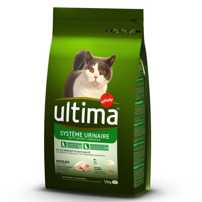 2x7,5kg Système Urinaire Ultima pour chat - Croquettes pour chat