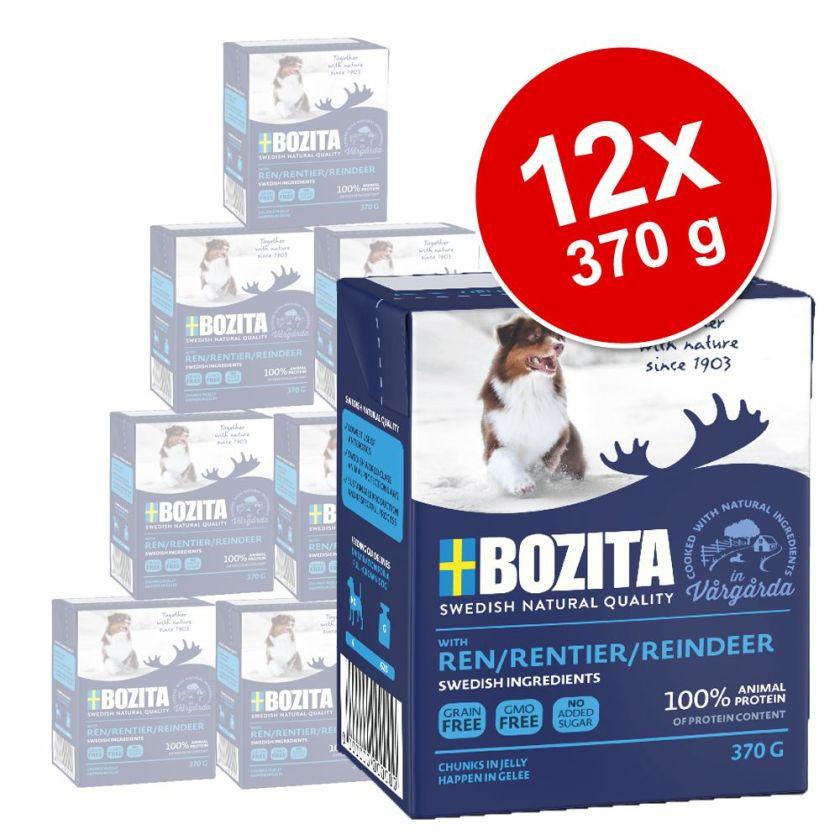 12x370g poulet, riz Bouchées en gelée Bozita - Nourriture pour chien