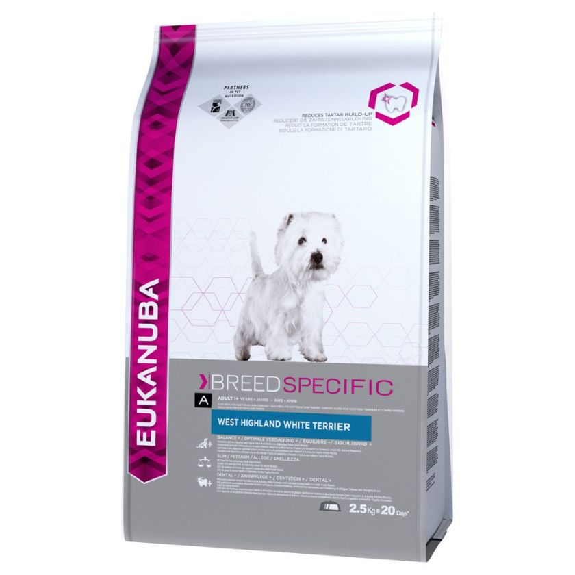 Eukanuba Breed Specific West Highland White Terrier - 2,5 kg