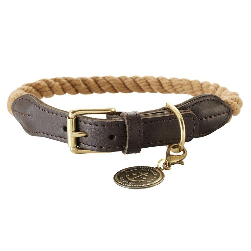 Collier en corde Hunter List beige - taille 50 : tour de cou 41 – 49 cm