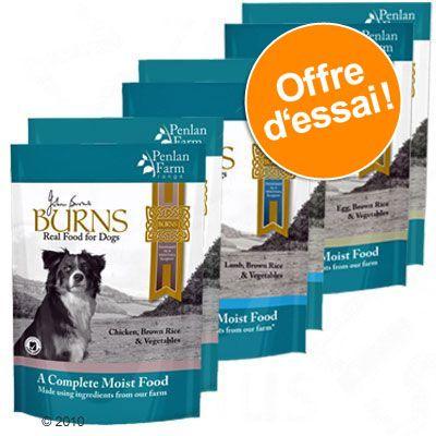 6x400g 2x3 saveurs Penlan Farm Range Burns - Nourriture pour chien