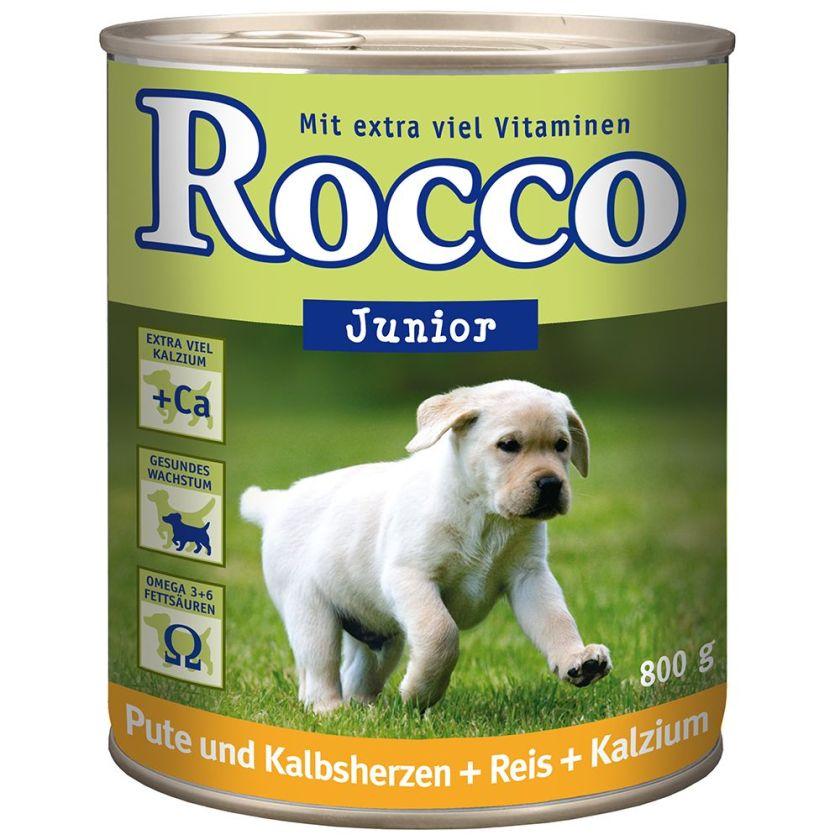 Rocco Junior 6 x 800 g pour chien - volaille, gibier, riz, calcium
