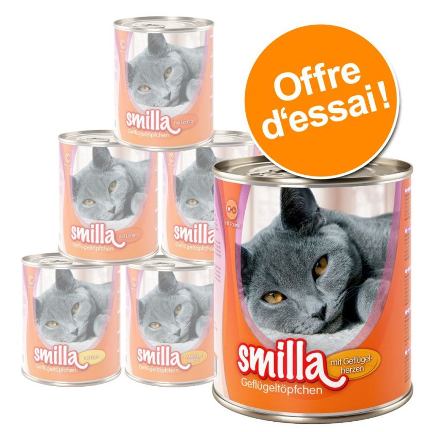 6x800g Smilla - Aliment en Boîtes pour Chat