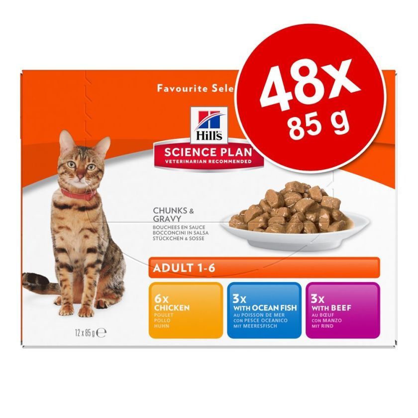 48x85g Adult Lightpoulet Hill's Science Plan pour chat